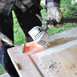 afrensning af maling med speedheater værktøjsserie